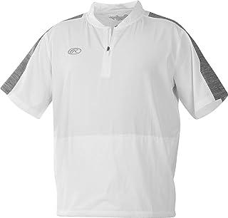 Rawlings Mens Jacket LNCCJ-W/GR-90, White/Graphite, Large