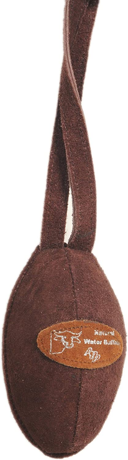 Advance Pet Products Suede Football Toss, Chocolate
