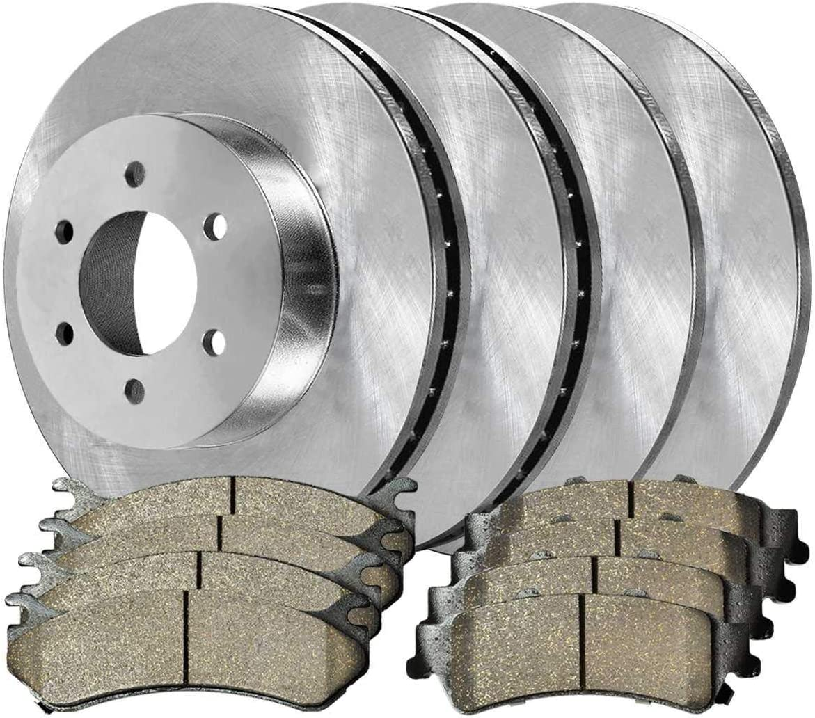 Deebior Front Rear Rotors Attention brand Metallic 1999-200 With Compatible Pads 2021new shipping free
