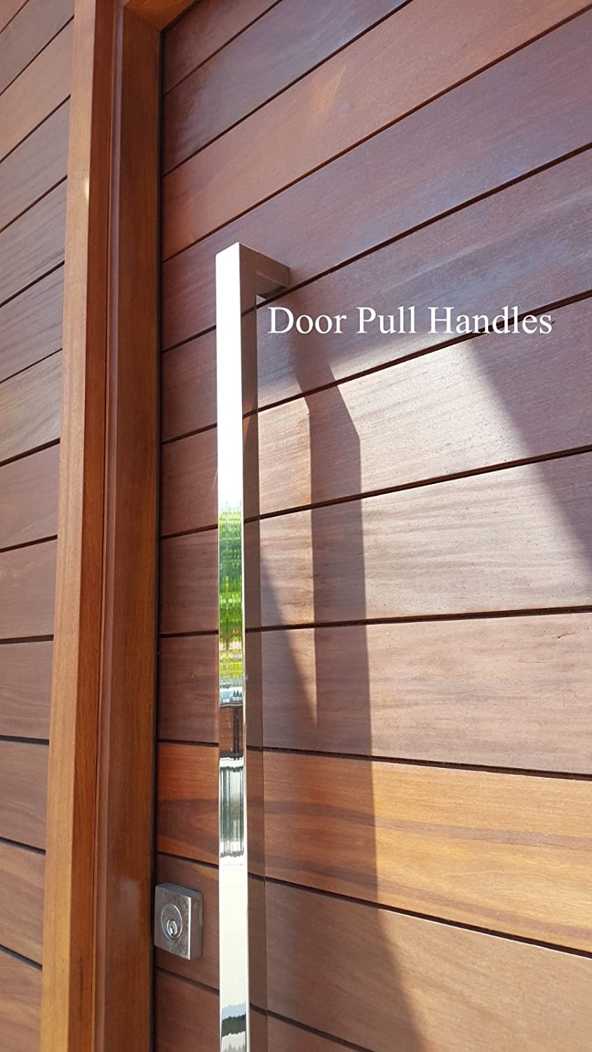 166 Rectangular-shaped Modern Stainless Steel Sus304 Entrance Entry Commercial Office Store Front Wood Timber Glass Garage Aluminum Business Office Door Pull Push Handles Double-sided 64 Inches //1600x25x38mm