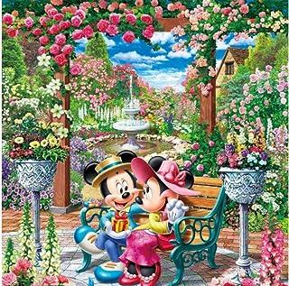 AItmp Bricolage 5D Diamant Peinture Div Mickey Minnie Mouse Fleur Jardin côtier Kits complets Art Enfants Enfants Peinture...