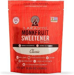 Lakanto Monkfruit Natural Sugar Substitute (8.29 oz) Non GMO (Classic White)