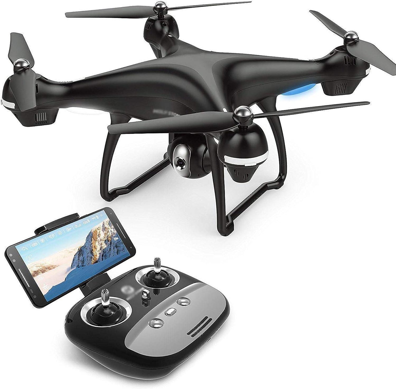 buen precio Drone con cámara Vídeo en Vivo Vivo Vivo y GPS Return Home Quadcopter con 720P HD de Gran Angular Ajustable (Cochega única Durante 25 Minutos)  de moda