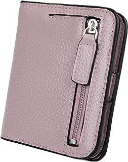 [ヤラックス]YALUXE レディース RFID ブロッキング 小さい コンパクト レザー ウォレット ミニ 財布 ID ウィンドウ ライト ピンク