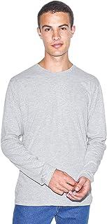 American Apparel Men's Power Wash Crewneck Long Sleeve T-Shirt