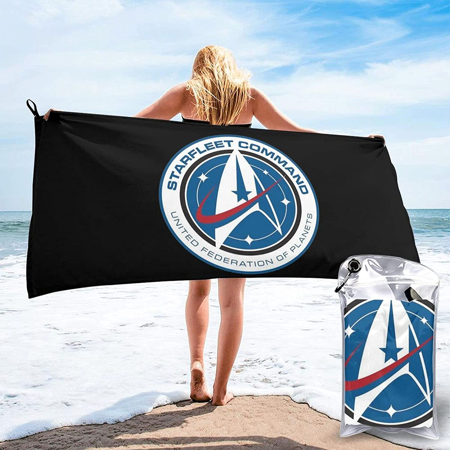 Space F-orce Quick Drying It is very popular Seasonal Wrap Introduction Beach Towel Sand a F Carrying Bag with