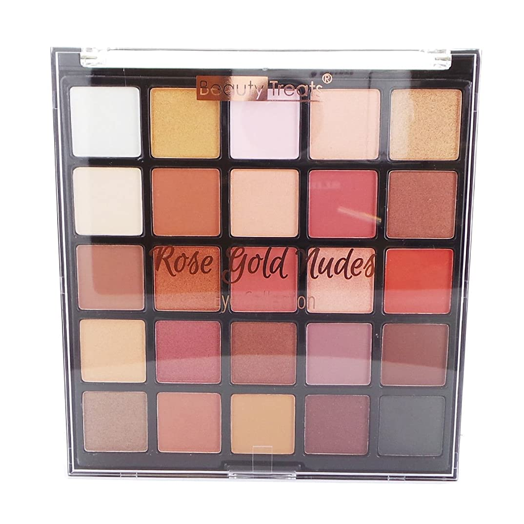 しっかりスナッククアッガBEAUTY TREATS Rose Gold Nudes Eye Collection Palette (並行輸入品)