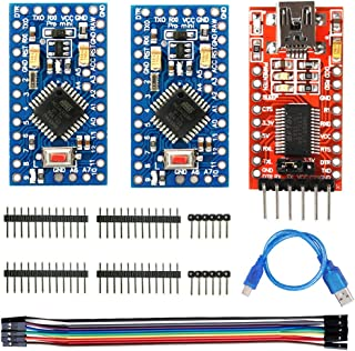 WayinTop 2pcs Pro Mini ATMEGA328P 3.3V 8MHz Development Board Microcontroller + FT232RL FTDI Mini USB to TTL Serial Conver...