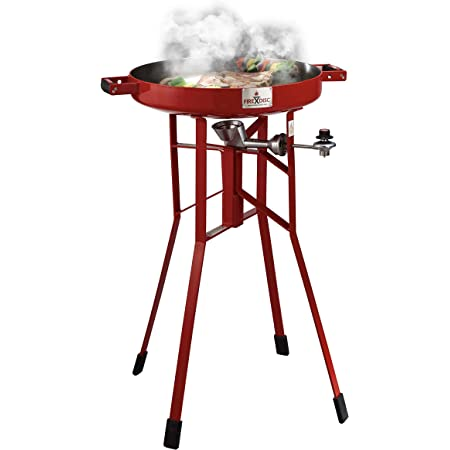 "Original FIREDISC 36"" Tall Outdoor Portable Propane Cooker   Red"