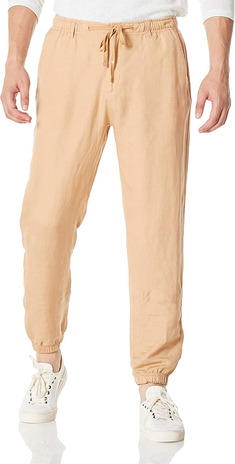 Popular shop is the lowest price challenge Isle Max 57% OFF Bay Linens Men's Linen Blend Rayon Pants Jogger