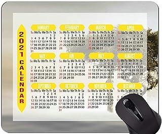 2021 Calendar Mouse Pad,Giraffe Tree Africa Non-Slip Rubber Base Mousepad