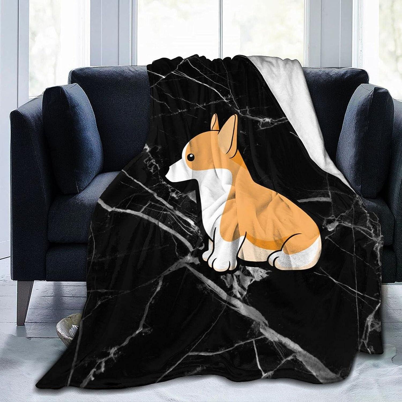 Long-awaited Cute Corgi Fleece Blanket for Sofa Bed Soft Plush Raleigh Mall Throw Cozy Bl