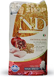 Farmina N&D Low Grain Chicken and Pomegranate Puppy Food, 12 kg (Maxi)