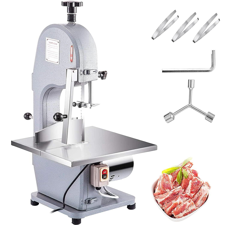 VBENLEM 110V Bone Saw Machine, 850W Frozen Meat Cutter, 1.12HP B