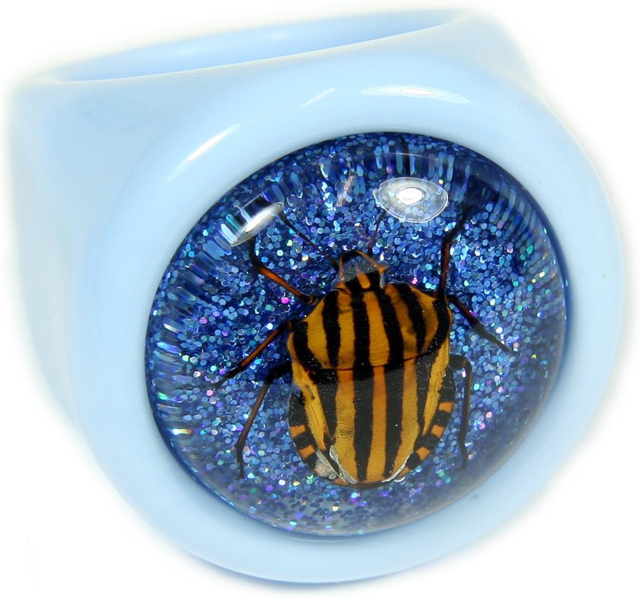REALBUG Shield Bug Blue Ring Size 6