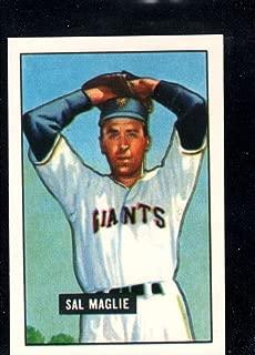 Baseball MLB 1986 Card Collectors Company 1951 Bowman Reprint #127 Sal Maglie NY Giants