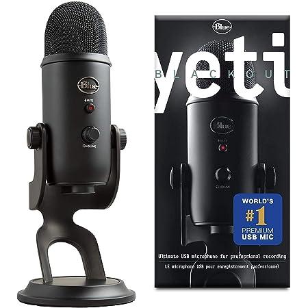 Blue Microphones Yeti Professional Multi-Pattern USB Mic for Recording and Streaming Microfono USB per Registrazione e Streaming su PC/Mac, 3 Capsule del Condensatore, 4 Modalità di Rilevamento, Nero