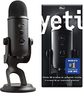 Blue Yeti USB Mic for Recording & Streaming on PC and Mac, 3 Condenser Capsules, 4..