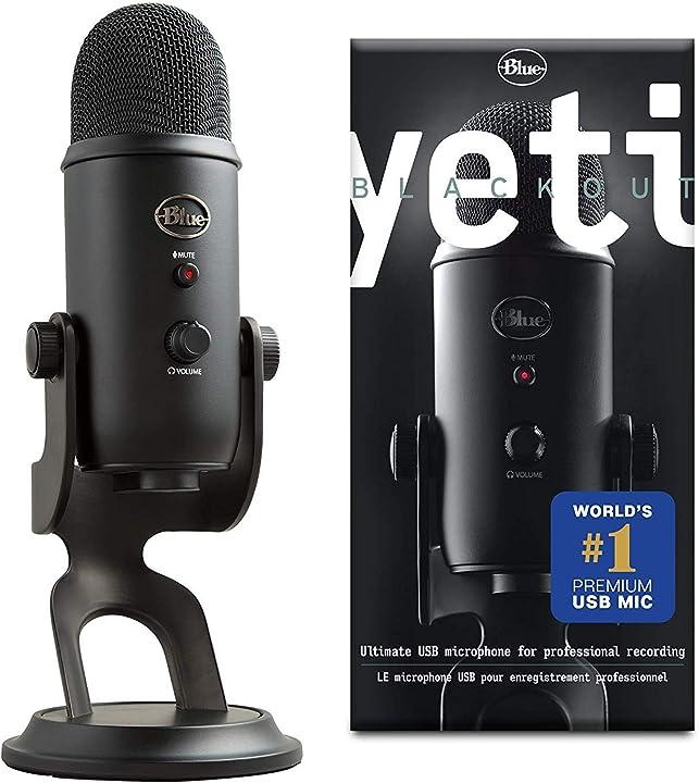 Microfono usb per registrazione e streaming su pc/mac, 3 capsule del condensatore, 4 modalità di rilevamento 988-000100