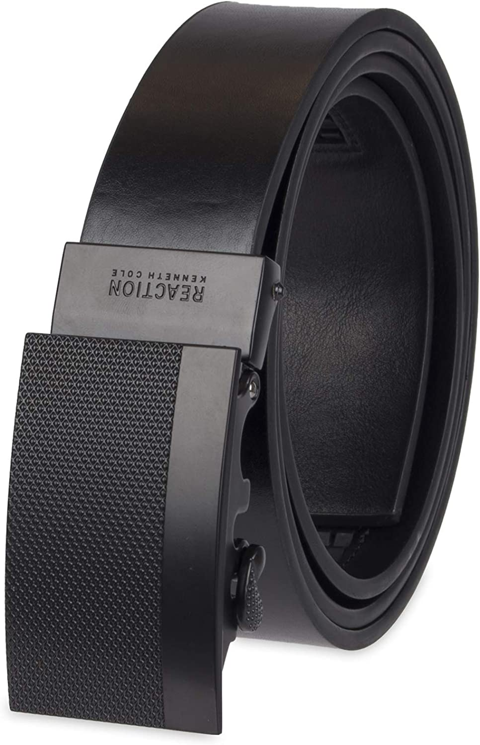 Kenneth Cole REACTION Men's Perfect Fit Adjustable Belt – Track Lock and Compression Buckle Styles