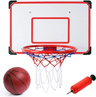 Liberty Imports Pro Indoor and Outdoor XL Big Basketball Hoop Set - 27 x 18 Inches Backboard + 15 inches Rim