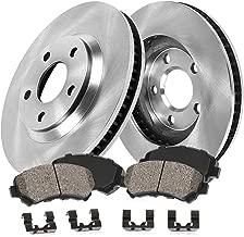 [2.0T / Linear / Turbo4] FRONT 285 mm Premium OE 5 Lug [2] Brake Disc Rotors + [4] Ceramic Brake Pads + Clips CRK12350