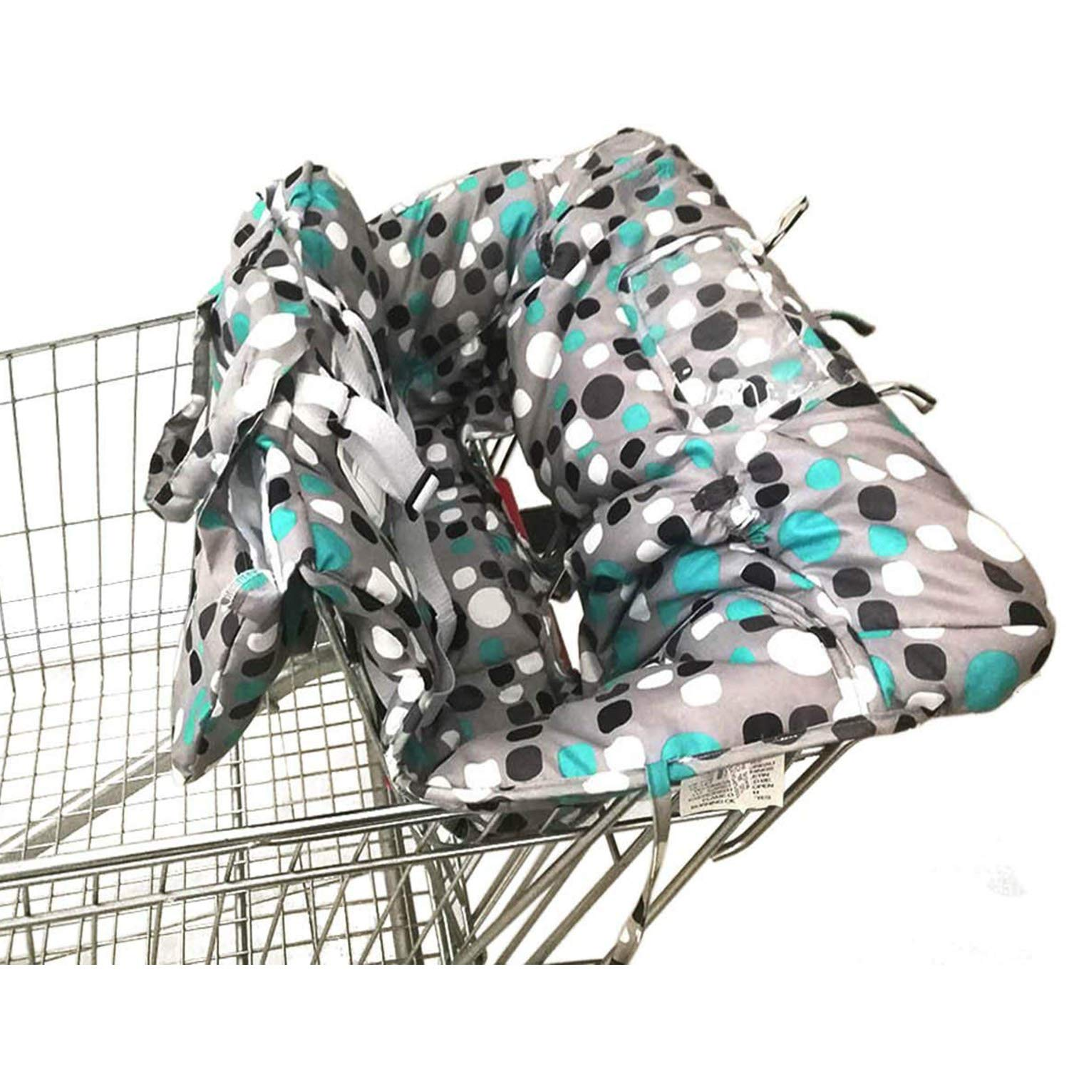 Shopping Cart Cover   High Chair and Grocery Cart Cover for Babies, Kids, Infants & Toddlers   2in1 Baby Shopping Cart Covers Fits Highchairs and Shopping Cart Seats ? Includes Free Carry Bag ?