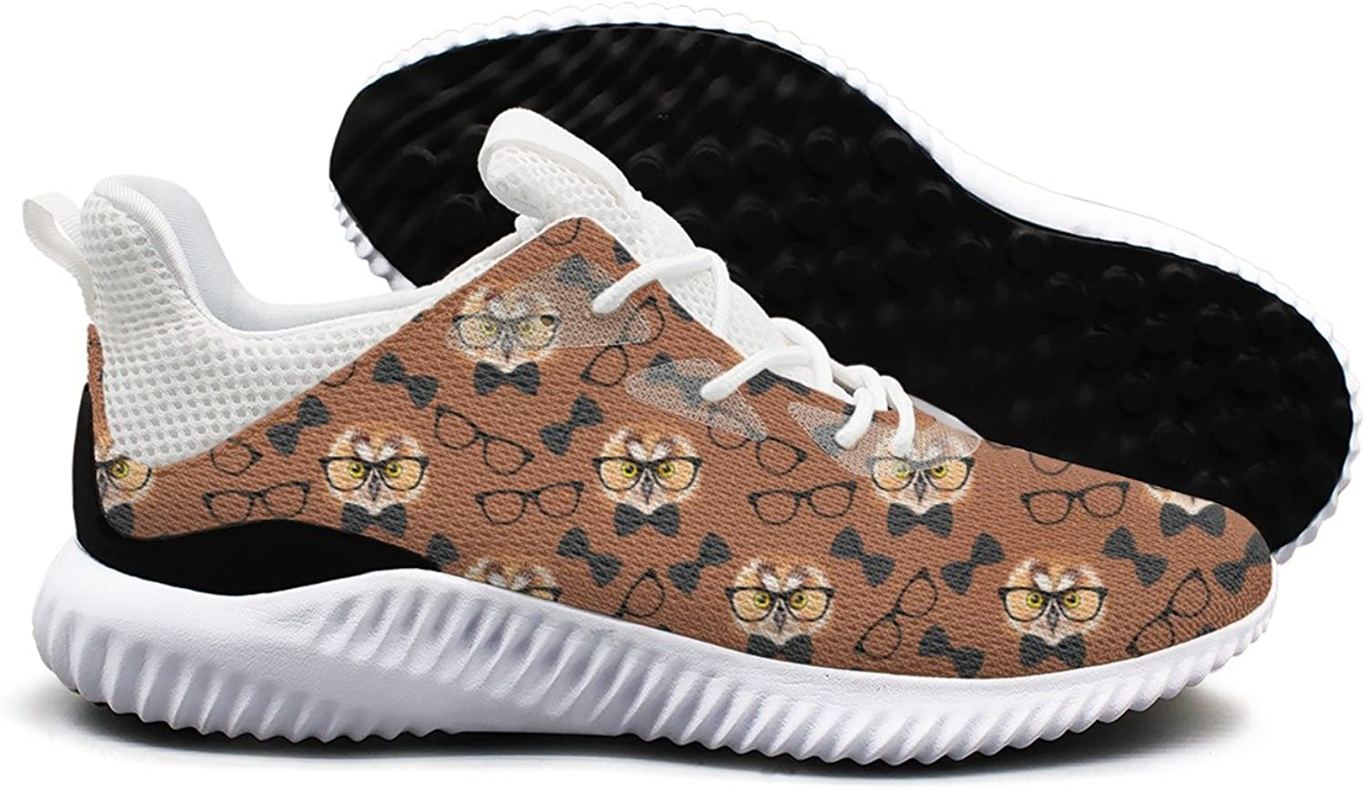 Owl with Glasses Leisure Design Running shoes Woman's Printing Jogger Comfortable