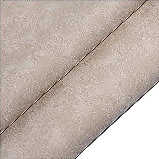 NIUGEF Tissu en Cuir Artificiel en Similicuir 0.9mm épaisseur PU Cuir Sofa Réparation Tissus Décoratifs pour Boucles d'ore...