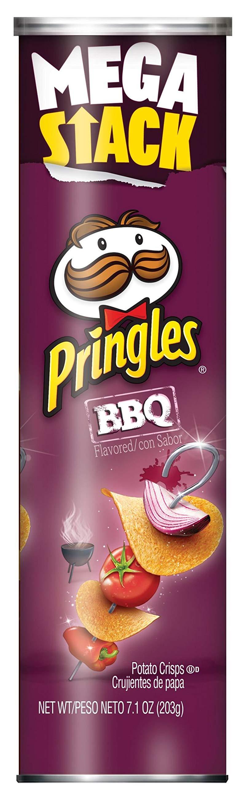 Pringles, Potato Crisps Chips, BBQ Flavored, Mega Stack, 7.1oz Can