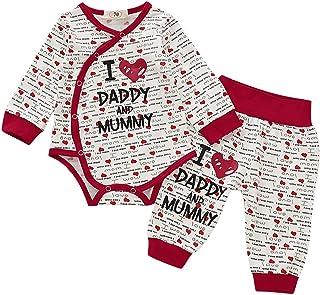 3000 Printed Clothing Tops Summer Pyjamas I Love You JURTEE Baby Girls Boys with Je TAime