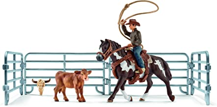 Schleich North America Team Roping with Cowboy Playset