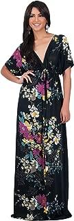 Womens Long Summer Floral Evening Sexy Kaftan Evening Gown Maxi Dress