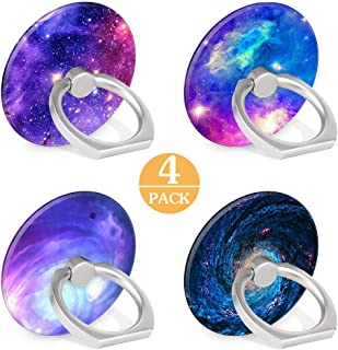 4-Pack Phone Ring Holder Galaxy Nebula 360 Degree Rotation Finger Ring Stand Holder Grip Kickstand Compatible with Smartphones and Tablets