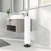 zwarte toiletrolhouder standaard voor badkamer toiletpapier opslag, roestvrij staal vrijstaande toiletrolhouder met plank ...