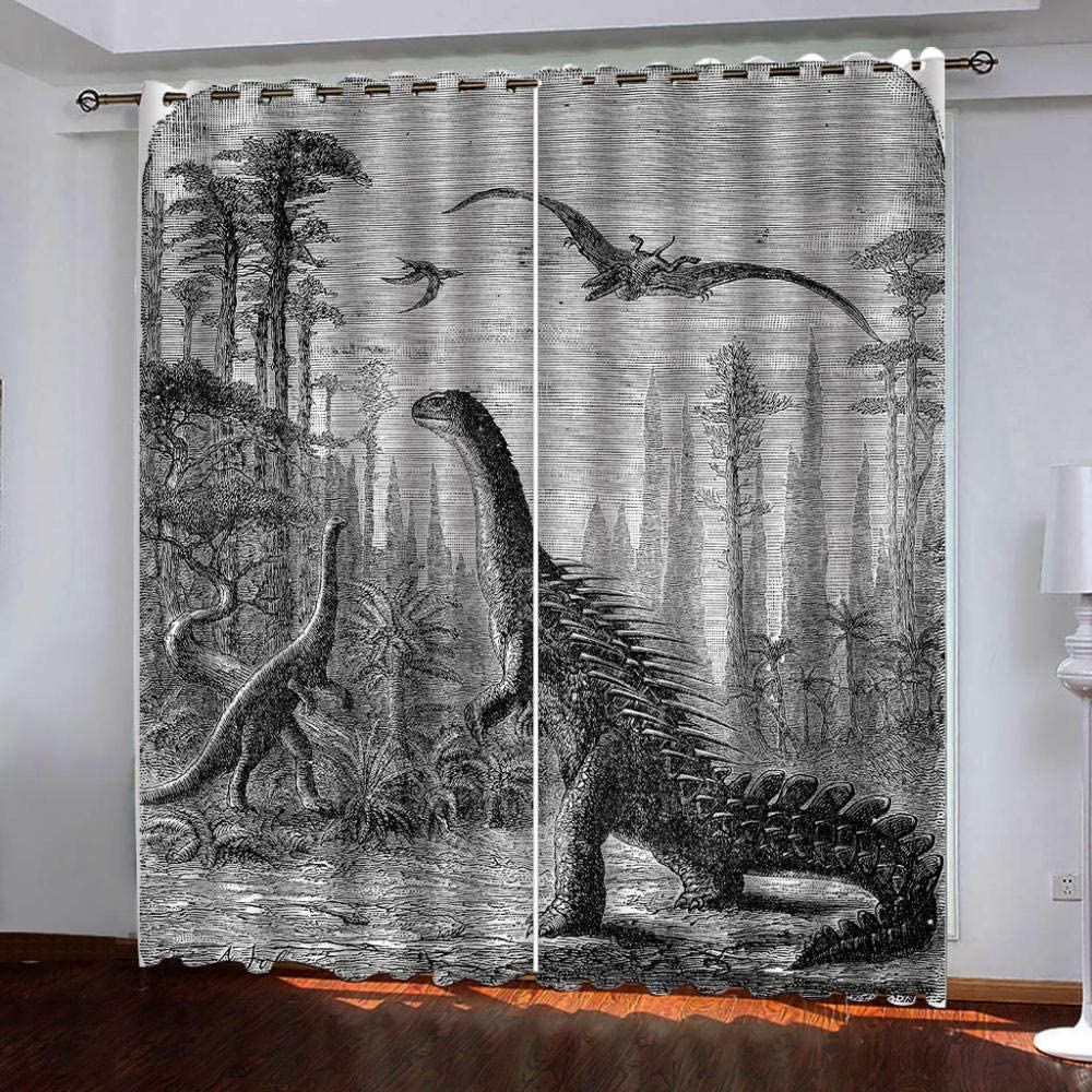 Blackout Window Curtain Panels Forest Max 58% OFF Animals for Insul Thermal Outlet SALE