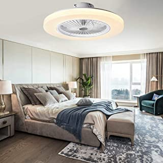 Ventilador de techo con iluminación LED, 36 W, ventilador de techo regulable con mando a distancia, 3 velocidades, moderno ventilador de techo con lámpara LED