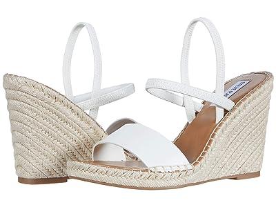 Steve Madden McKenzie Wedge Sandal (White) Women