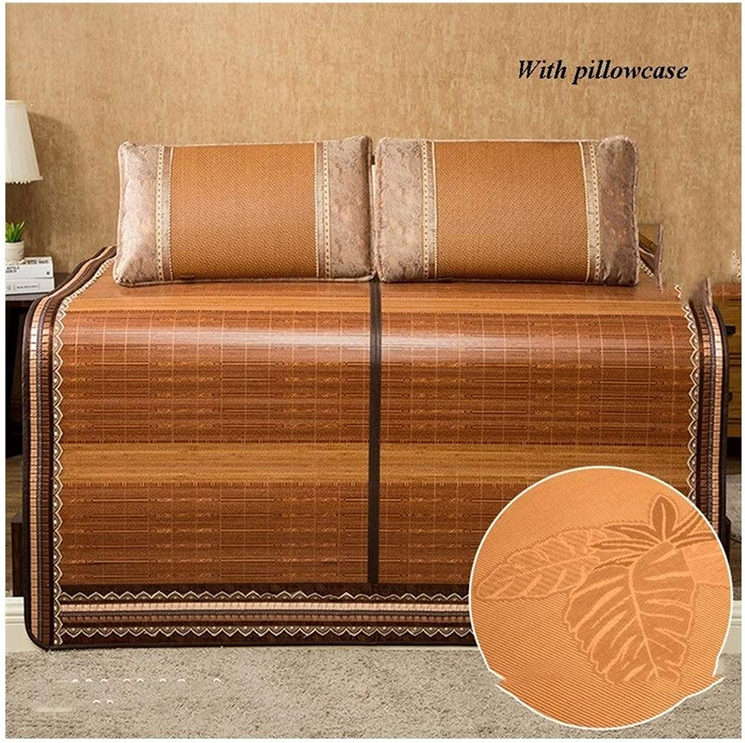 Foldable Healthy Bamboo Summer Sleeping mat Double-Sided Bed ice Silk Pillowcase