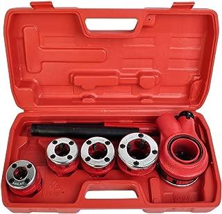Comie New Ratchet Pipe Threader Kit Set Ratcheting w/5 Stock Dies & Handle Plumbing Case