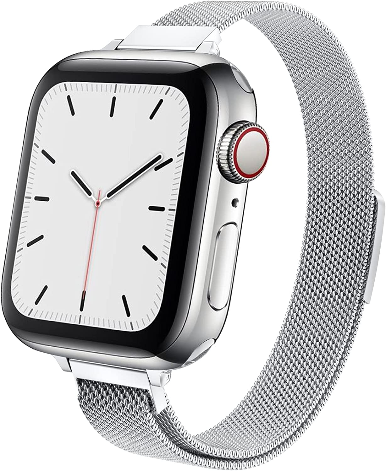 MRAINH Compatible with Apple Watch Band 38mm 40mm 42mm 44mm Slim  Thin Women Wristband with Strong
