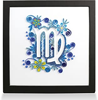 Zodiac Virgo Handmade Personalized Gifts for Him & Her Frame Paper Quilling 3D Wall Art for Home Decor