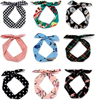 9 Pack Women's Headbands Headwraps Hair Bands Bows Iron Wire Girl Rabbit Ears Hair Accessories (Fashion Style)