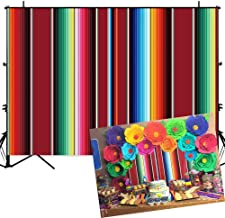 Allenjoy 7x5ft Soft Fabric Mexican Fiesta Theme Party Stripes Backdrop Festival Birthday Decor Cinco De Mayo Carnival Banner Decoration Background for Photography Photo Studio Booth Props