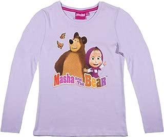 Masha und der Bär Langarmshirt  104-134 Mädchen langarm Shirt Mascha Kinder