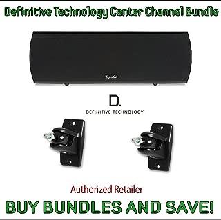 Definitive Technology ProCenter 1000 Compact Center Speaker (Black) & Definitive Technology Pro-Mount 90 - Pair (Black)