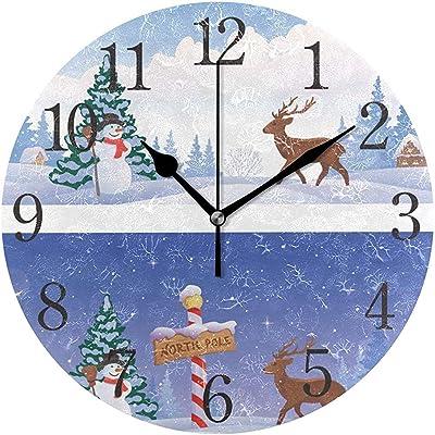 Mitta Yane Round Clock Reloj De Pared Paisaje del Polo Norte ...