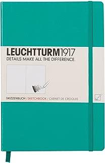 LEUCHTTURM1917 344999 Libreta de dibujo Medium (A5) tapas duras, 96 pág. (180 g/m²), esmeralda