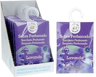 Set de 12 Sobres Perfumados, Bolsitas Aromáticas de Lavanda, Saquitos para el Armario, Cajón, Ropa de Bebé, Zapatero, Maleta