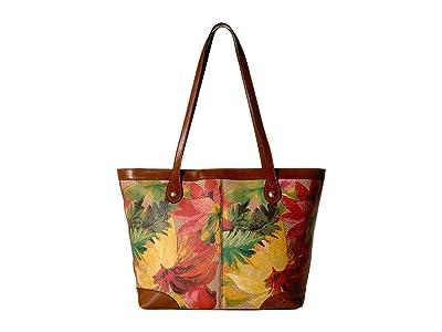 Patricia Nash Straw Viotti Tote (Spring Multi) Tote Handbags